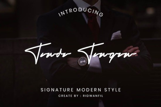 Tanda Tangan Font free download