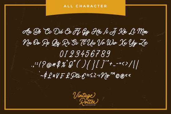 Vintage Rotter font download