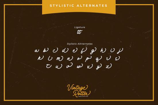 Vintage Rotter font free download