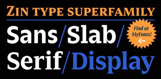 Zin Display font free