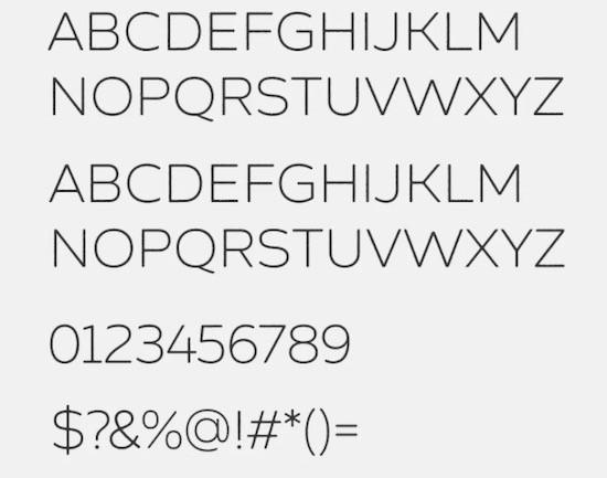 Zing Sans Rust Light font
