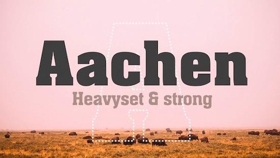 Aachen font free