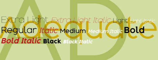 Adequate Font download