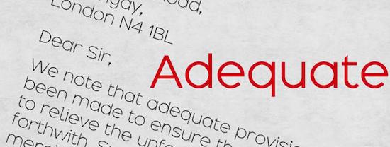 Adequate Font free