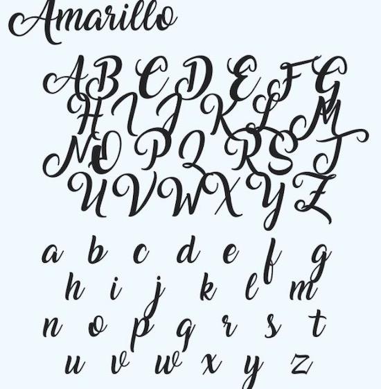 Amarillo font free