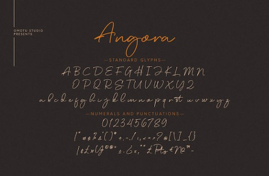 Angora font free