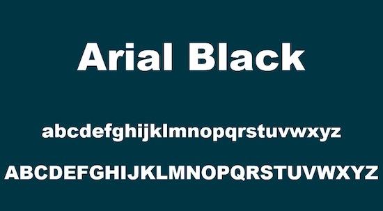 Arial Black font free download