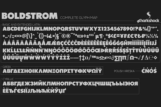 Boldstrom font free