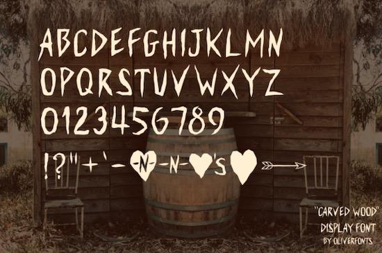 Carved Wood font download