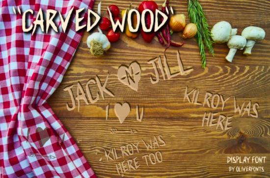 Carved Wood font