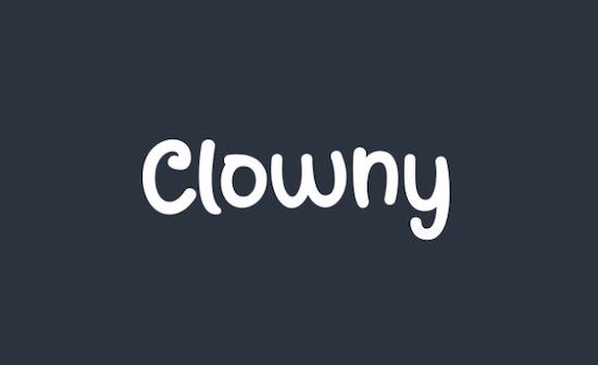 Clowny font free