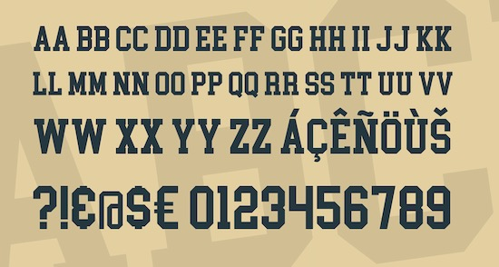 College Block font download