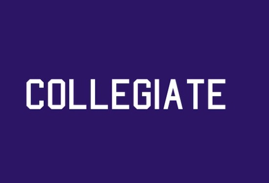 Collegiate font free
