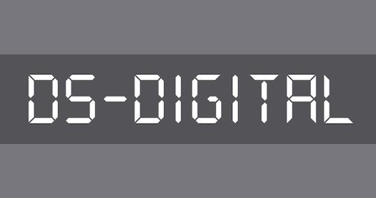 DS-Digital font free