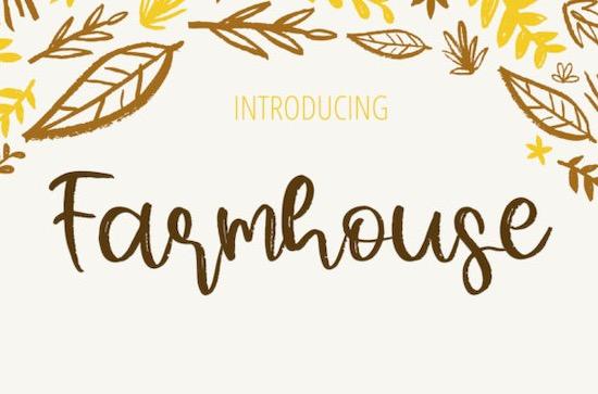 Farmhouse font download