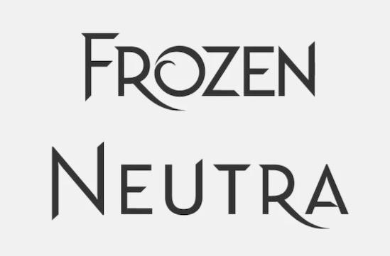 Frozen Neutra font