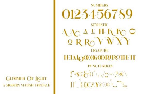 Glimmer Of Light Font download