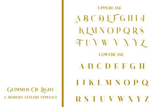 Glimmer Of Light Font free