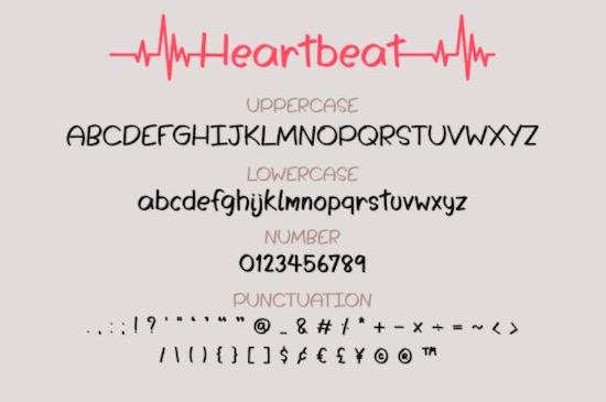 Heartbeat font download