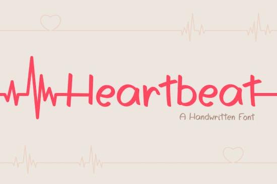 Heartbeat font