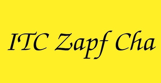 ITC Zapf Chancery font download