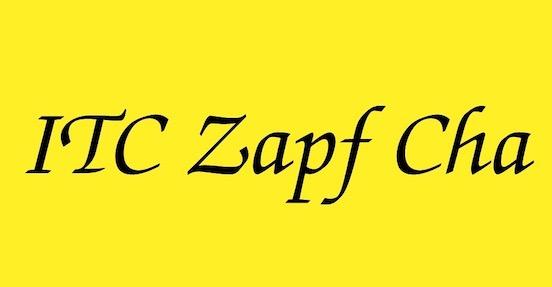 ITC Zapf Chancery font download