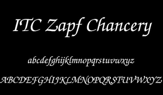 ITC Zapf Chancery font free download