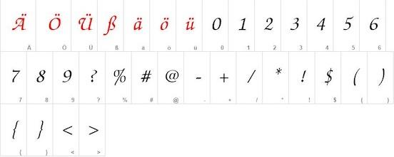 ITC Zapf Chancery font