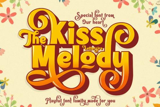 Kiss Melody Font