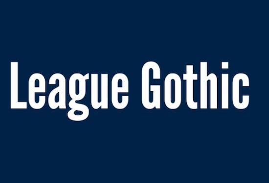 League Gothic font free