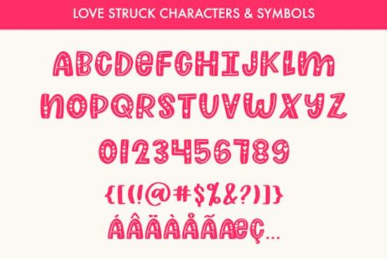Love Struck font free