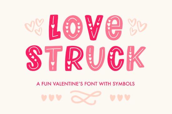 Love Struck font