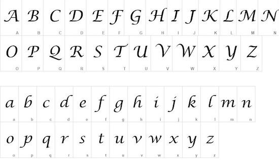 Lucida Calligraphy font free