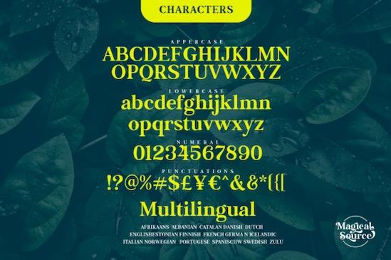 Magical Source font free