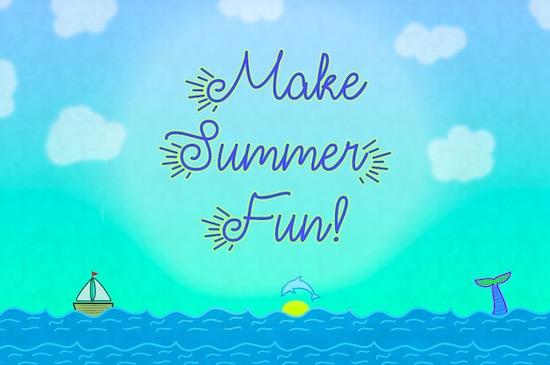 Make Summer Fun font free download