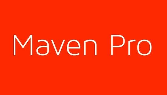 Maven Pro Light font download