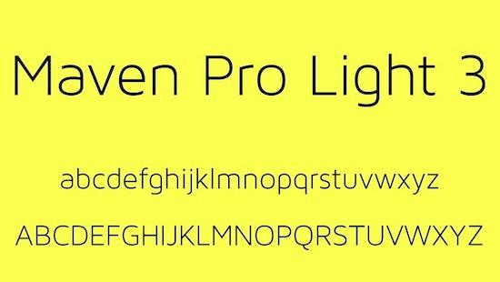 Maven Pro Light font free