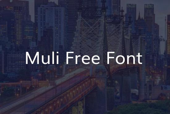 Muli font free