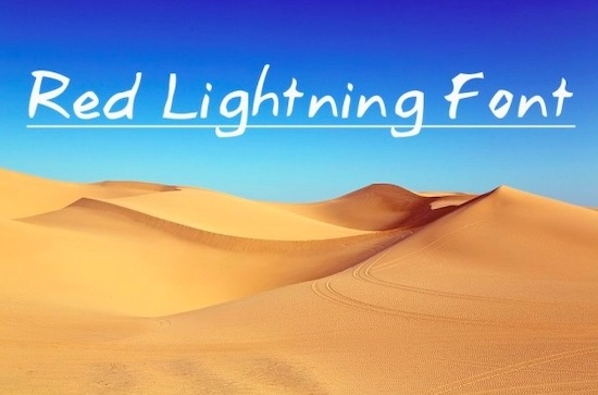 Red Lightning font free