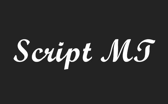 Script MT Bold font download