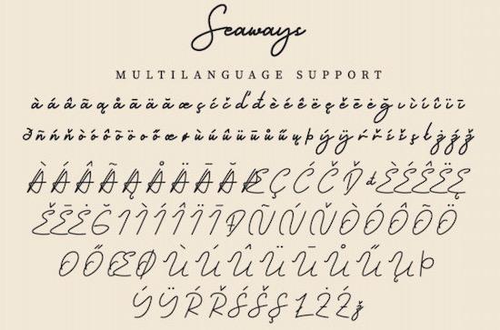 Seaways font download