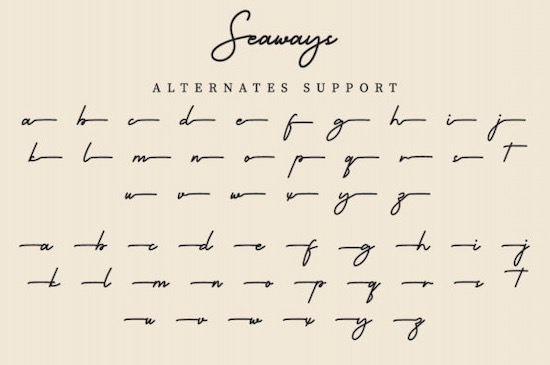 Seaways font free download