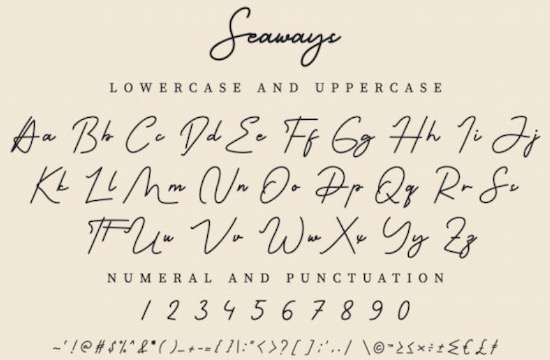 Seaways font free