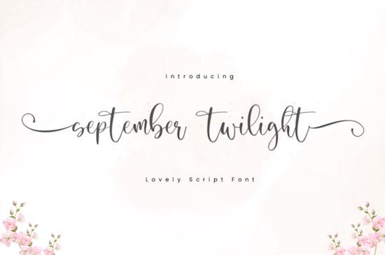 September Twilight font free