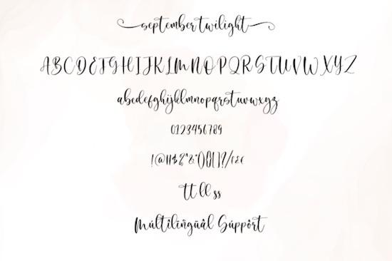September Twilight font