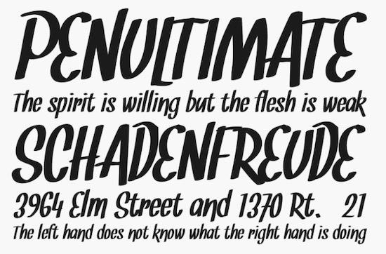 Snickles font
