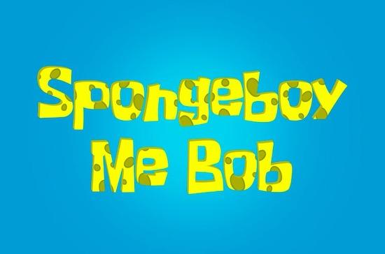 Spongeboy Me Bob font free