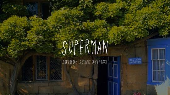 Superman font free