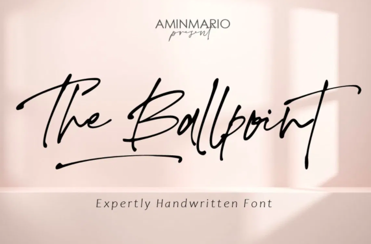 The Ballpoint Font features