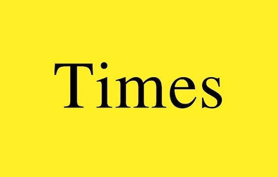 Times font download